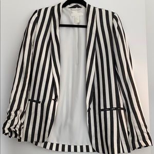 Striped H&M blazer.